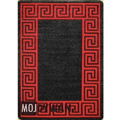 Dywan simple grecka droga czarno-czerwony 060x100 prostokąt od producenta Dywanstyl.pl
