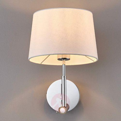 Lampenwelt.com Materiałowa lampa ścienna z lampką do czytania led