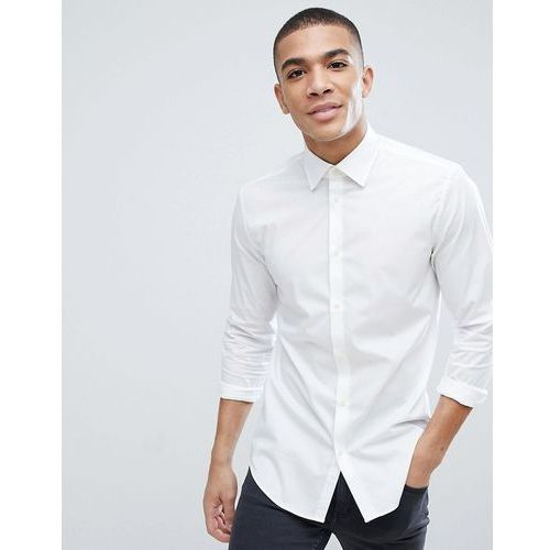 Esprit Slim Fit Cotton Poplin Shirt In White - White