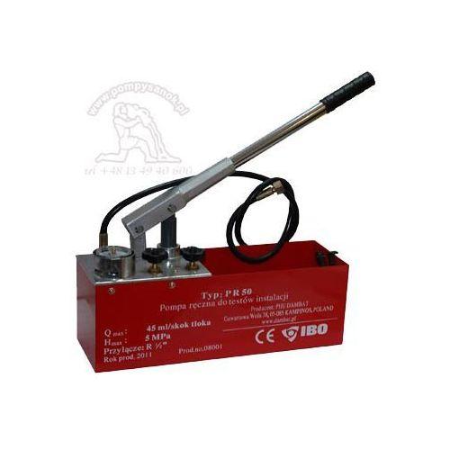Pompa kontrolna do sprawdzania ciśnienia i szczelności z manometrem PR50 - do 50 bar, kup u jednego z partnerów