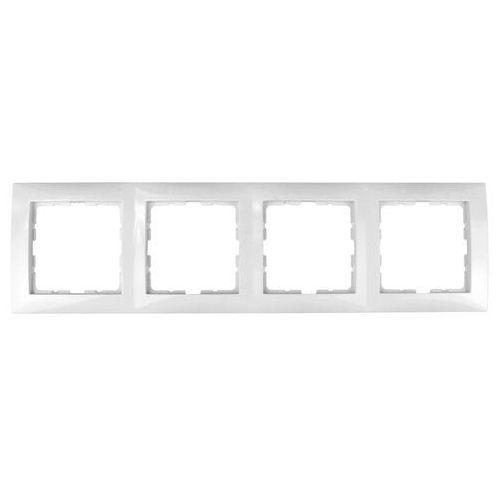berker Ramka poczwórna biała 5310148989 b.kwadrat berker (5907561849749)