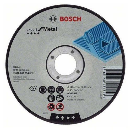 Bosch tarcza do metalu 125*2,5*22 (3165140181846)