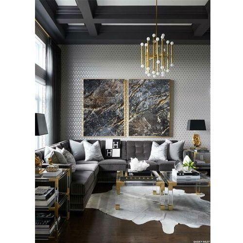 Strukturalne żłobienia - Wielkoformatowy obraz na płótnie abstrakcyjny art&texture®