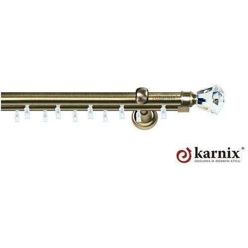 Karnisze szynowe aspen podwójny 19/19mm clarex crystal antyk mosiądz marki Karnix