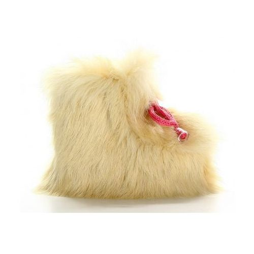 Buty Ocieplacze Loopi ze skóry owczej biale