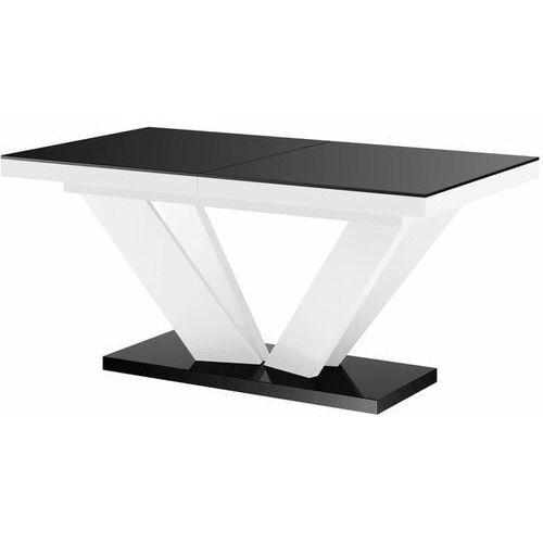 Hubertus Stół rozkładany viva 2 160-256 czarno-biały połysk