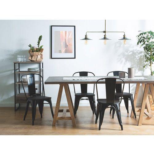Krzesło do jadalni czarne APOLLO