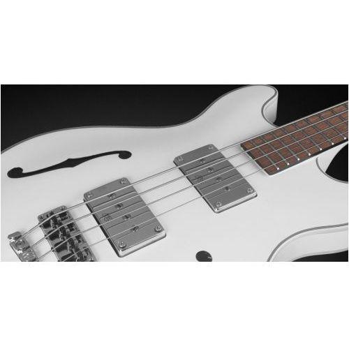 Rockbass star bass 4-string, solid creme white high polish, fretted - medium scale gitara basowa