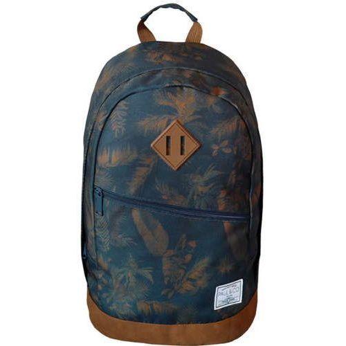 Plecak 20X30XH45 21L granatowy liście, kolor niebieski