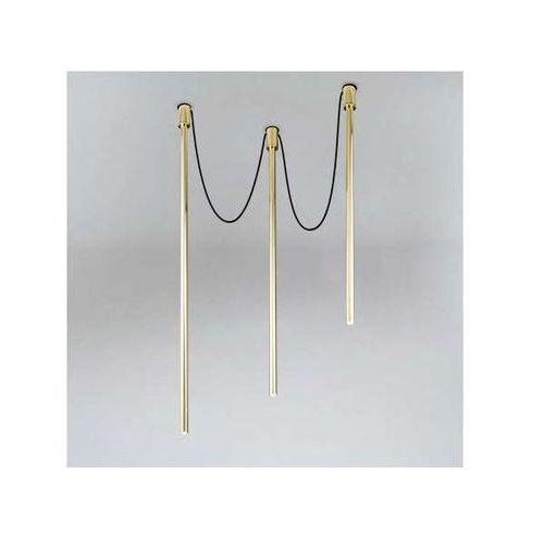 LAMPA sufitowa ALHA Y 9003/G9/MO Shilo metalowa OPRAWA downlight sople tuby mosiądz