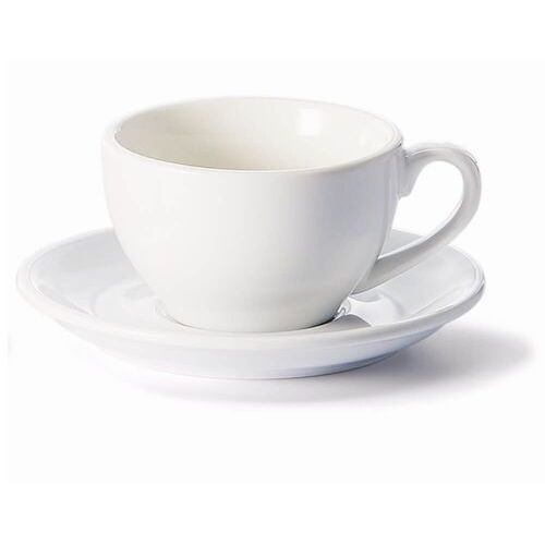 Filiżanka ze spodkiem biała – klasyczny zestaw na kawę herbatę, elegancki prezent podarunek dla mamy taty babci dziadka