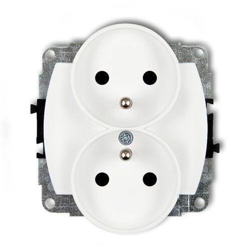 Karlik Trend gpr-2z mechanizm gniazda podwójego do ramki zu 2x2p+z biały (5903292635231)