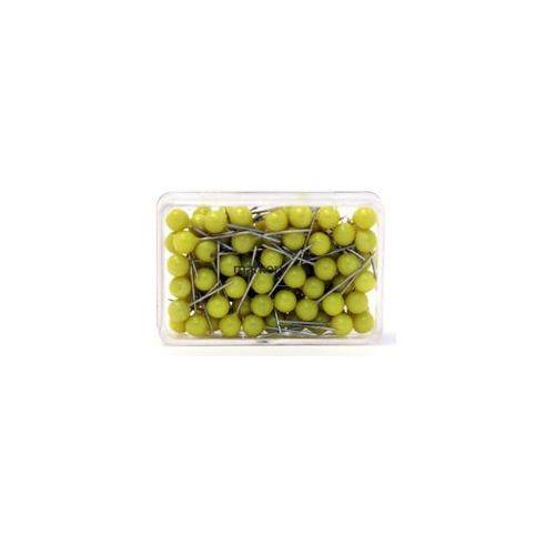 Szpilki do tablic kork/tekstyl 100szt żółty, MAGN111165002