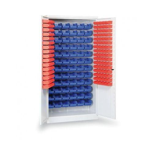 B2b partner Szafa z plastikowymi pojemnikami, 1990x100x435 mm, 72+160 boksów