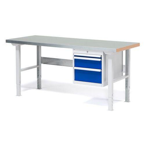 Stół warsztatowy Solid, zestaw z 3 szufladami, 500 kg, 1500x800 mm, stal