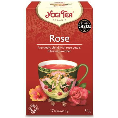 Herbata tao rose bio (yogi tea) 17 saszetek po 2g marki Yogi tea, usa