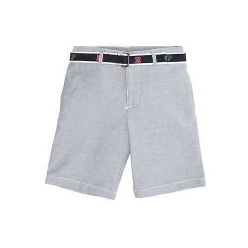 Polo ralph lauren spodnie 'stretch oxford-belted short-bt-sho' niebieski