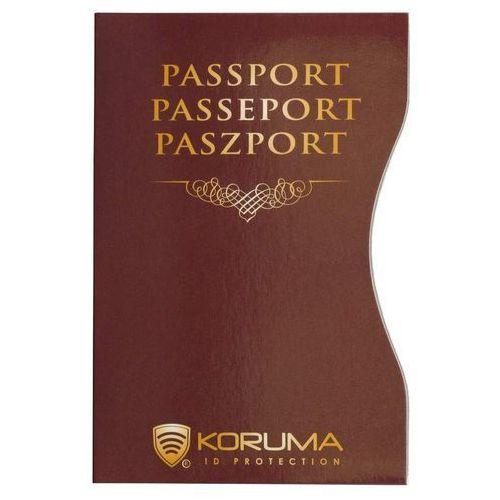 Koruma ✅ etui z ochroną paszportu biometrycznego rfid (brązowy) - kasztan (5903111394547)