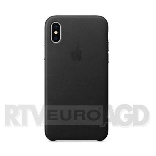 Apple leather case iphone x mqtd2zm/a (czarny) (0190198522856)