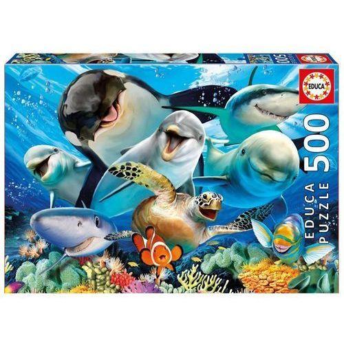 Puzzle 500 elementów Podwodne selfie - DARMOWA DOSTAWA OD 199 ZŁ!!!, 1_633868