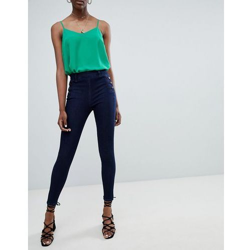 bianca side button jeans - blue, New look