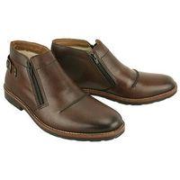 RIEKER 35362-25 brown, botki męskie, kolor brązowy