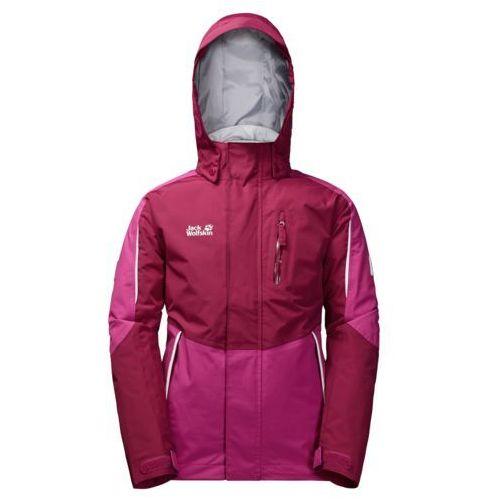 Jack wolfskin Kurtka 3w1 crosswind 3in1 jacket kids - dark ruby