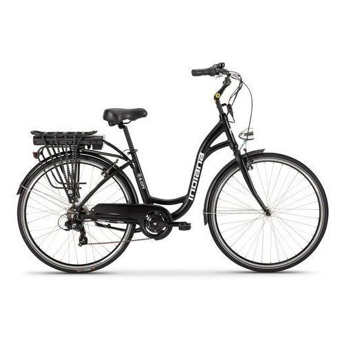 Rower elektryczny e-city d18 czarny + zamów z dostawą jutro! + darmowy transport! marki Indiana