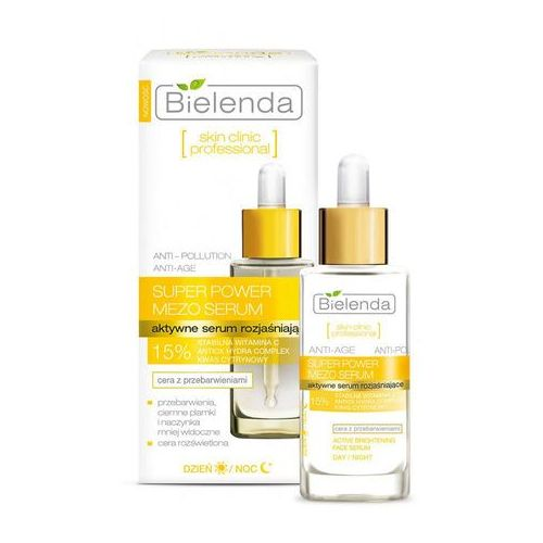 Bielenda Skin Clinic Professional Brightening aktywne serum rozjaśniający (Super Power Mezo Serum) 30 ml (5902169019174)