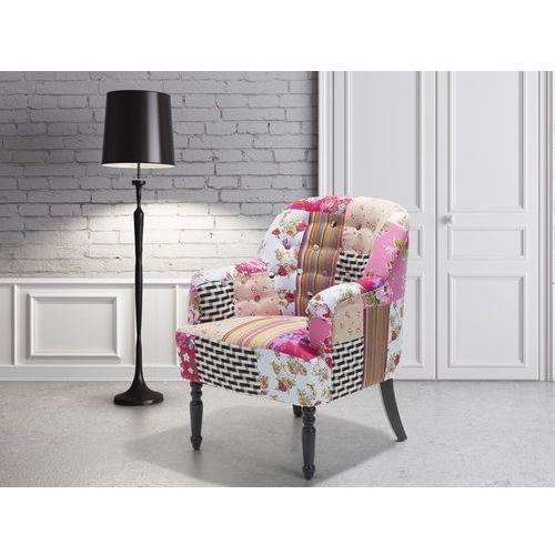 Beliani Fotel wypoczynkowy kolorowy do salonu tapicerowany - mandal
