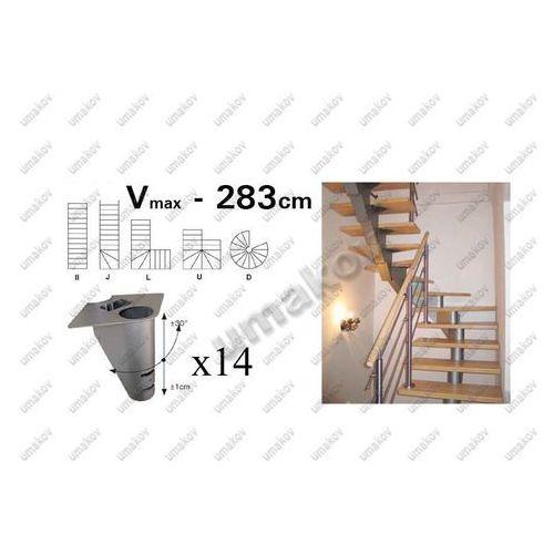 Schody-segment NS240 V 2830-2570mm, set 14x segmen
