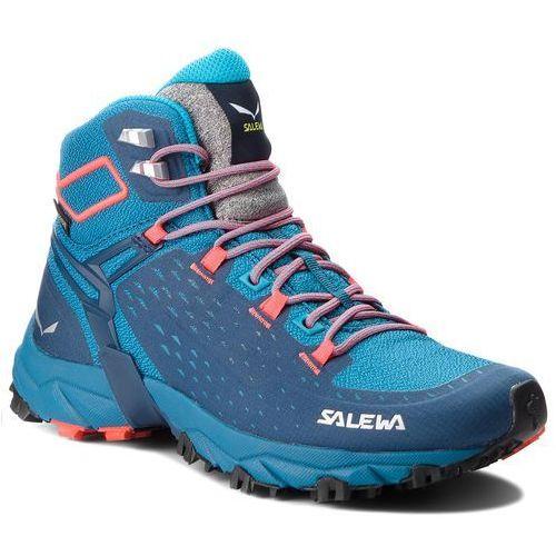 Trekkingi - alpenrose ultra mid gtx gore-tex 64417-8363 blue sapphire/fluo coral marki Salewa