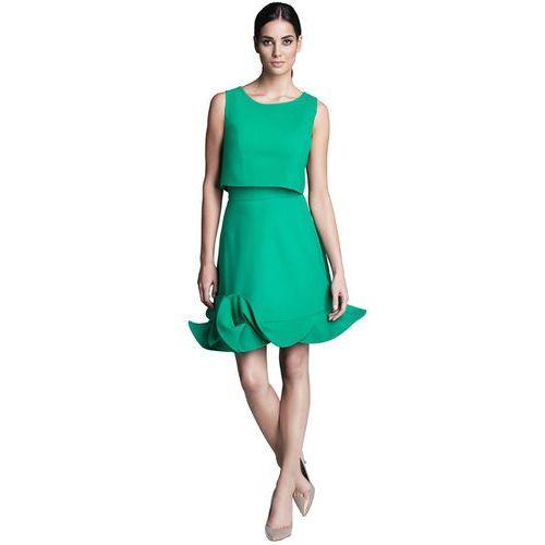 Komplet zielony top i spódnica, kolor zielony