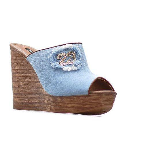 Vices Klapki 4093-12 niebieskie jeans