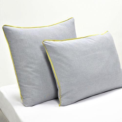 Poszewka na poduszkę z nadrukiem efekt Chambray, Trame