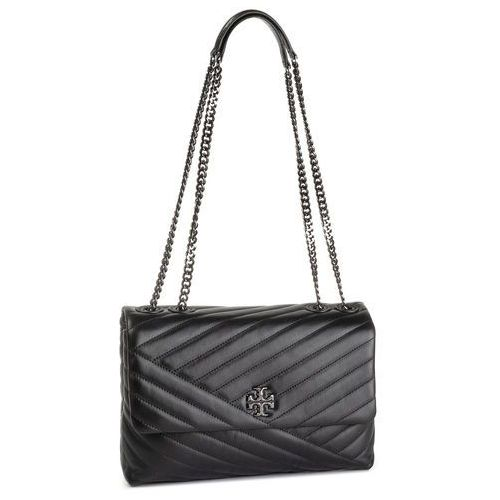 Torebka TORY BURCH - Kira Chevron Convertible Shoulder Bag 58465 Black/Gunmetal 013, kolor czarny