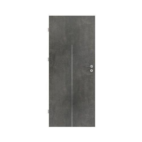 Porta Skrzydło drzwiowe line beton ciemny 90 lewe