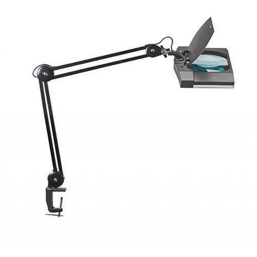 Lampka led z lupą na biurko vitrum, 7w, mocowana zaciskiem, czarna marki Maul