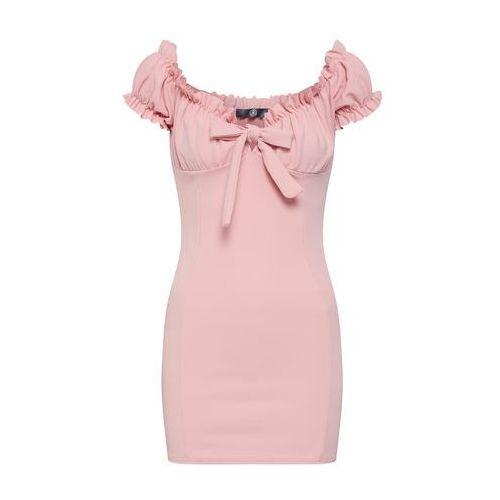 Missguided Letnia sukienka 'Milkmaid Mini' różowy pudrowy (5057702821278)