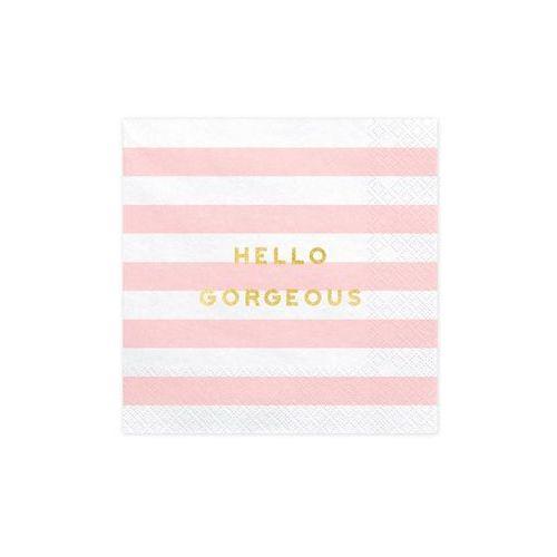 Serwetki Hello Gorgeous różowe paski - 33 cm - 20 szt.
