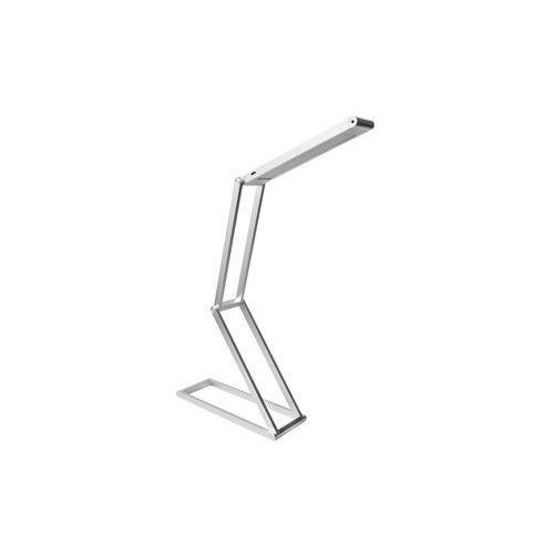 Srebrna lampa biurkowa LED