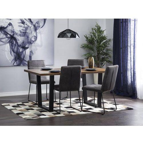 Stół do jadalni brązowy 160 x 90 cm austin marki Beliani