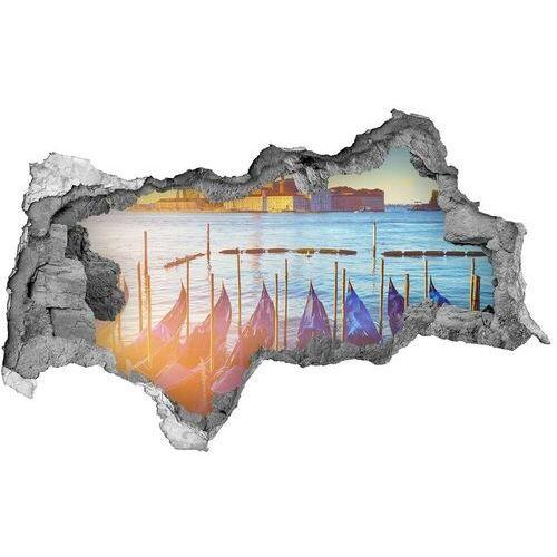 Dziura 3d w ścianie naklejka cegła Wenecja