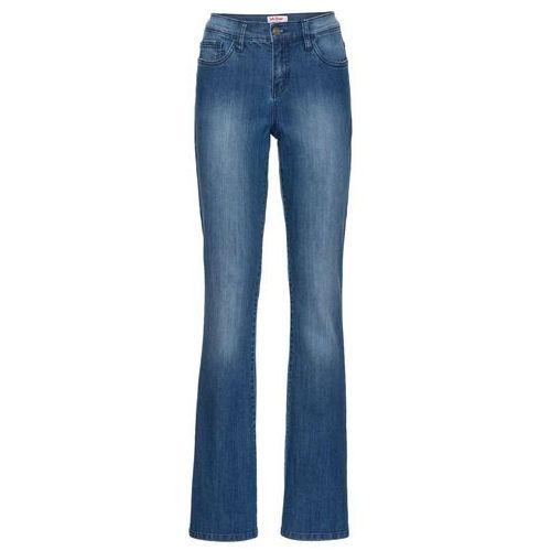 Wygodne dżinsy ze stretchem BOOTCUT bonprix niebieski, jeans