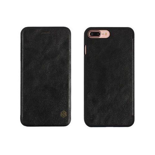 Apple iPhone 7 Plus - etui na telefon Nillkin Qin - czarne, kolor czarny