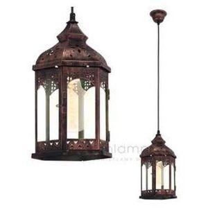 LAMPA wisząca REDFORD 1 49224 Eglo metalowa OPRAWA ZWIS latarnia patyna