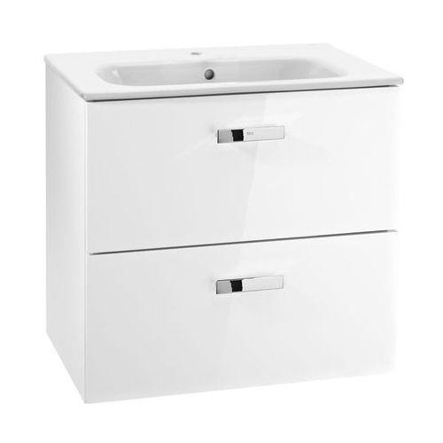 Victoria Victoria Basic Zestaw łazienkowy Unik biały połysk szafka z 2 szufladami z umywalką 70 cm A855853806 (8414329939002)