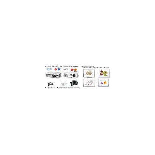 Szkolny zestaw interaktywny 57 dual + projektor epson eb-x12 edu lub nec v260x edu + uchwyt sufitowy + głośniki + kabel vga 15m marki Iboard