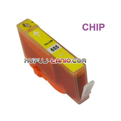 Crystal ink Hp 655xl yellow () tusz do hp deskjet ink advantage 6525, hp deskjet ink advantage 5525, hp deskjet ink advantage 3525