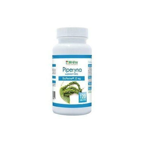 Piperyna ekstrakt 10mg Bioperie 120 tabletek MyVita (5905279123397)